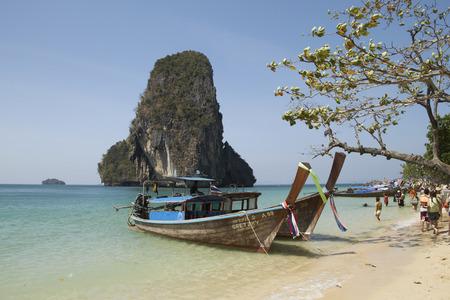 krabi: Sea and Boat, Krabi, Thailand Editorial
