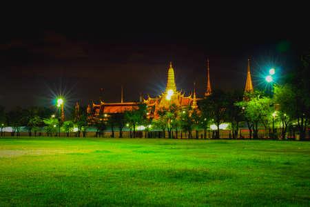 nightime: Wat Phra Kaew in bangkok for nightime Stock Photo