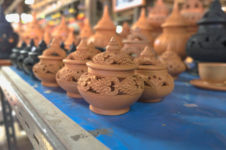 making earth: Complete pottery already for sell Stock Photo