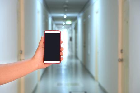 hotel hallway: Camera phone capture Hotel hallway