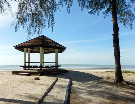 pavillion: The pavillion on sea background