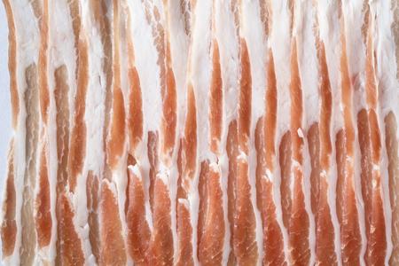 Fresh slice pork meat in close-up shot