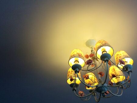 hope: Sweet lantern for you. Hope in the darkness. Interior design. Stock Photo