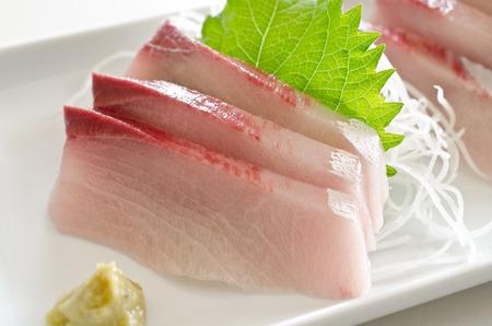 The yellow tail sashimi
