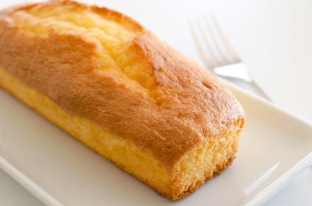 pound cake: Pound cake Stock Photo