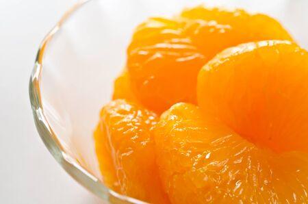 mandarin orange: Mandarin orange syrup Stock Photo