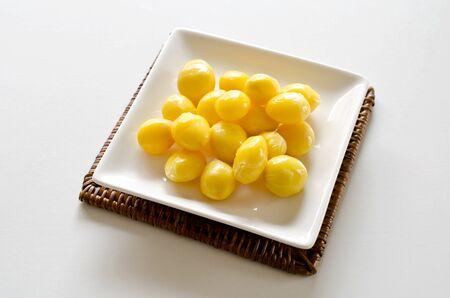 gingko: Boiled gingko nuts Stock Photo