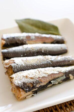 sardinas: sardinas petróleo Foto de archivo