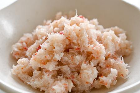 Flakes of snow crab Chionoecetes opilio 版權商用圖片