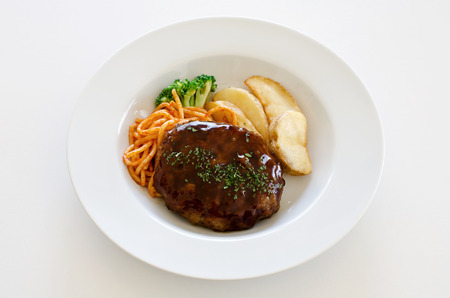 western food: Hamburger steak