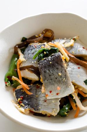 pickled: Pickled herring Stock Photo