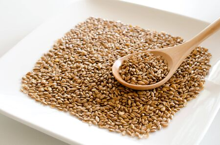 flax seed: Flax seed Stock Photo
