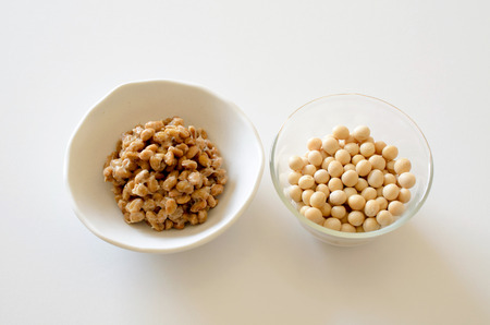 soybeans: Soybeans and natto Stock Photo