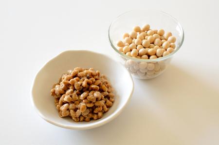 Soybeans and natto 版權商用圖片