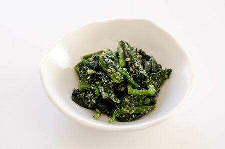 Spinach with Sesame Dressing 版權商用圖片
