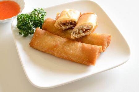 Fried spring roll sauce 版權商用圖片