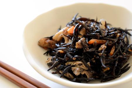 Simmered hijiki seaweed 版權商用圖片