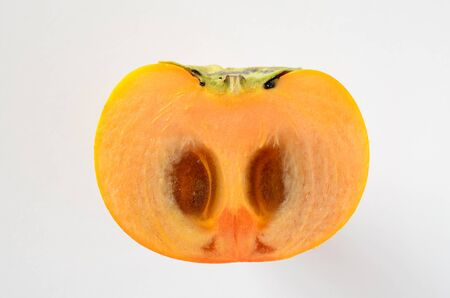 cross section: Cross section of persimmon Stock Photo
