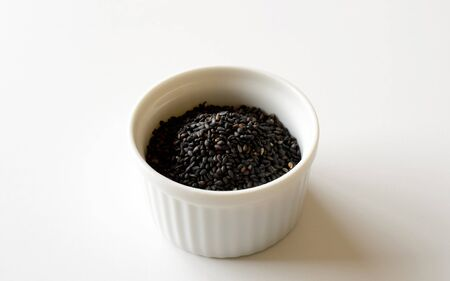 black sesame: Black sesame seeds Stock Photo