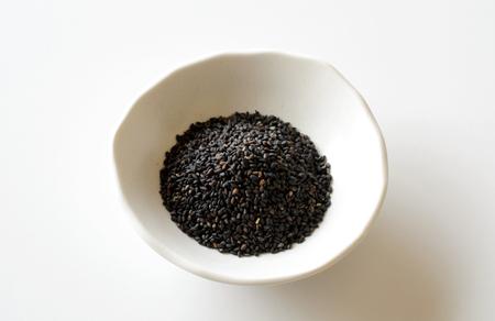 black: Black sesame seeds Stock Photo