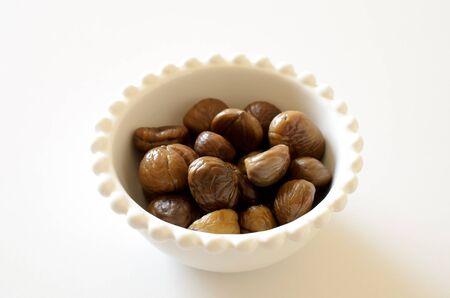 peeled: Peeled chestnuts