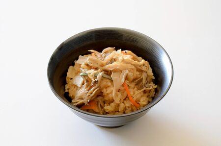 Maitake mushroom steamed rice