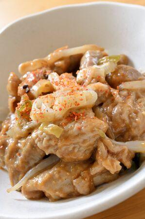 motu: Pork miso, japanese cuisine