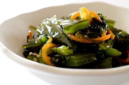 pickled: Pickled mustard green seaweed