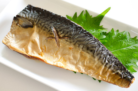 Grilled mackerel 写真素材