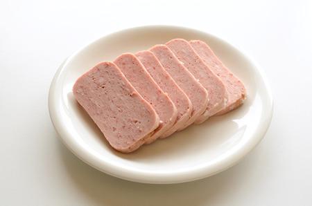 Luncheon meat 版權商用圖片