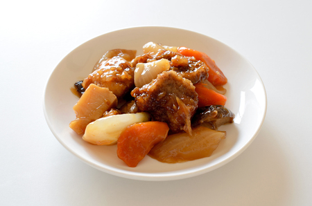 Sweet and sour pork Stock Photo