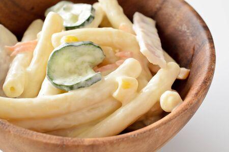 macarrones: Macaroni salad Foto de archivo