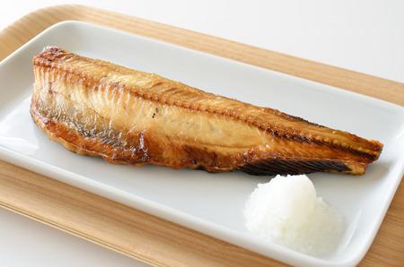 Grilled Atka mackerel Stock Photo