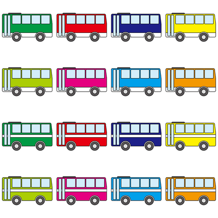 Buses vector illustration Иллюстрация