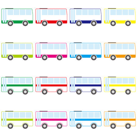 バスのベクトル図 写真素材 - 86635065