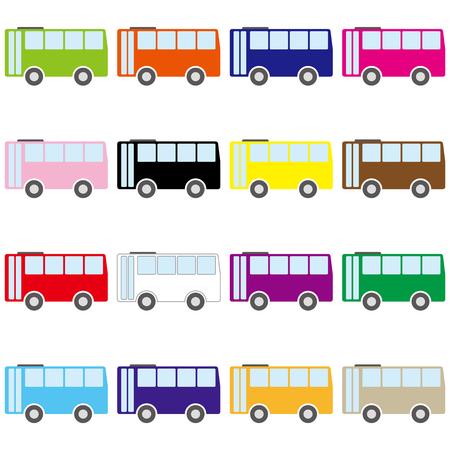 Busse Vektor-Illustration