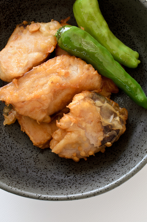 Yellowtail karaage 스톡 콘텐츠