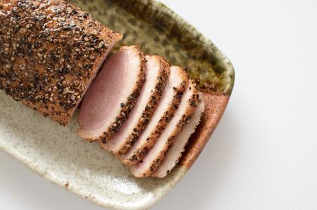Duck pastrami