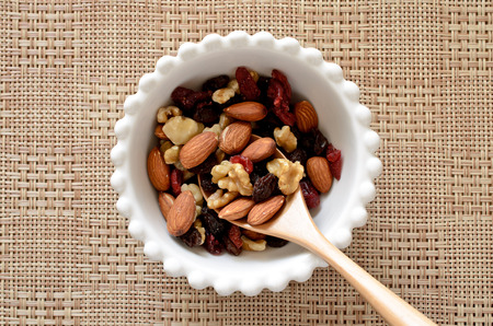 Nuts and dried fruits Imagens