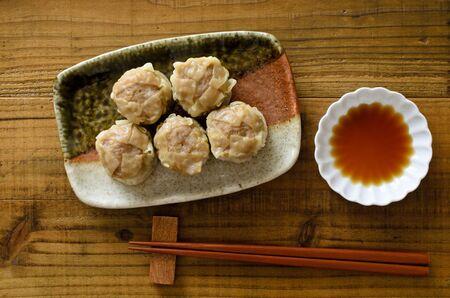 Shao-mai Stock Photo
