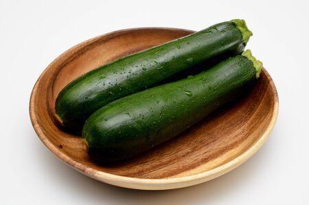 fresh green zucchini Stockfoto