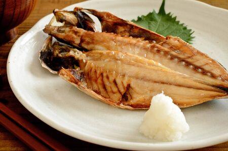 grilled horse mackerel