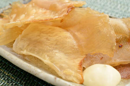 dried ray fin