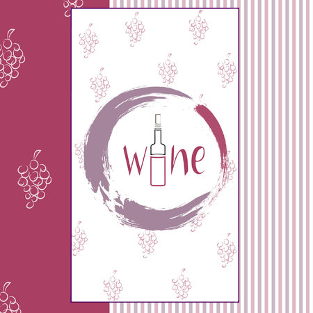 degustation: Vector wine or invitation card for wine degustation. All objects compared in groups.