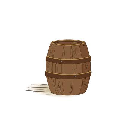keg: Vector image of cartoon wine keg.