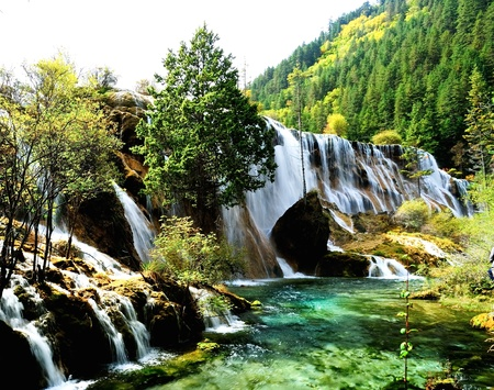 Jiuzhaigou lake in china