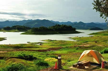 bivouac: camping point in the sights in Thailand
