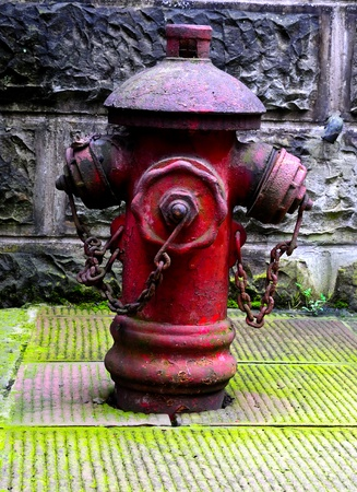old red  fire hydrant  in China Stock Photo