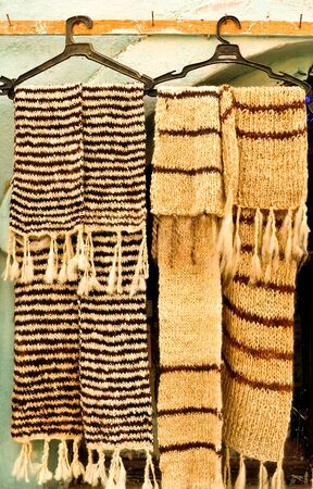 neckcloth: knitted scarf on a hanger