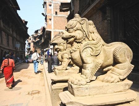 lion statues in Kathmandu,Nepal